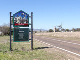 Picture relating to Breeza - titled 'Breeza town sign'