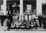 Picture relating to Warwick - titled 'Team photograph of the Old South Easterners football team, Warwick'
