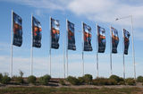 Picture relating to Princes Freeway - titled 'Expolre Wyndham flags near the Princes Freeway'