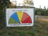 Picture relating to Amamoor - titled 'Amamoor - Forestry fire danger sign'