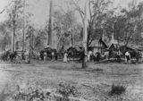 Picture relating to Coochin Creek - titled 'Simpson family home at Coochin Creek, Queensland, ca.1890'