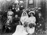 Picture relating to Queensland - titled 'Wedding of W. McGavin and E. J. Hamilton in 1909'