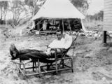 Picture relating to Stanthorpe - titled 'John Edward (Jack) Moffatt at Stanthorpe Military Hospital, ca. 1916'