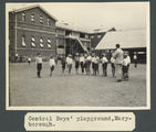 Picture relating to Maryborough - titled 'Boys in the playground of Maryborough Central Boys' School'