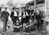 Picture relating to Miriam Vale - titled 'Group of men at Miriam Vale, 1911'