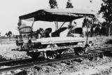 Picture relating to Charters Towers - titled 'Rail ambulance near Charters Towers, ca. 1920'