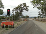 Picture relating to Warral - titled 'Red traffic lights at Warral'