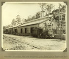 Picture relating to Somerset Dam - titled 'Substation, compressor plant and workshop buildings at the construction site, Somerset Dam, 1937'