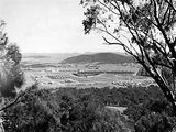Picture relating to Mount Ainslie - titled 'Braddon and Civic Centre from Mount Ainslie, Ainslie Hotel to the left.'