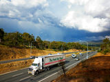Picture relating to Ginninderra Drive - titled 'Ginninderra Drive with storm coming in the background'
