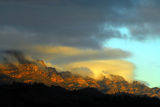 Picture relating to Wilpena Pound Range - titled 'Wilpena Pound peaks at sunrise'