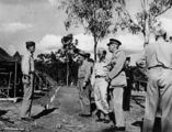 Picture relating to Rockhampton - titled 'Sir Leslie Orme Wilson at the American military camp near Rockhampton, ca. 1942'