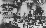 Picture relating to Queensland - titled 'Christmas celebrations at Diamantina Hospital, ca. 1925'