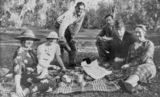 Picture relating to Cloncurry - titled 'Members of the Royal Flying Doctor Service and friends picnicing a
