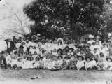 Picture relating to Alderbury - titled 'Sunday School Picnic at Alderbury, Queensland, 1898'