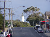 Picture relating to Point Lonsdale - titled 'Point Lonsdale Main Street and Lighthouse'