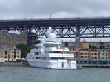 Picture relating to Circular Quay - titled 'Super yacht Apoise in Campbells Cove, Circular Quay'
