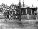 Picture relating to Charleville - titled 'People in the street outside the post office in Alfed Street, Charleville, ca. 1912'
