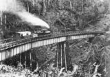 Picture relating to Toowoomba - titled 'C class locomotive crossing a bridge as it descends the Toowoomba Range'