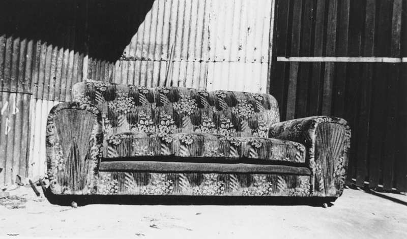Picture of / about 'Fortitude Valley' Queensland - Genoa velvet settee manufactured by F. H. Byrne, Upholsterers, Brisbane