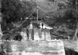 Picture relating to Murrumbidgee River - titled 'Murrumbidgee River bridge under reconstruction following 1922 floods - New spans on western side'