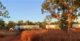 Picture relating to Katherine - titled 'Roadtrain near Katherine'