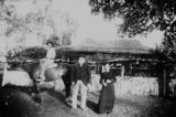 Picture relating to Knapps Creek - titled 'David, James and Margaret Salisbury outside their family home, 'Landsdowne', at Knapps Creek, Queensland, ca. 1895'