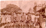 Picture of / about 'Brisbane' Queensland - Brisbane soldiers with natives - WWI - 1917