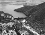 Picture relating to Somerset Dam - titled 'Aerial photograph of Somerset Dam, Esk shire, Queensland'