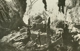 Picture relating to Chillagoe - titled 'Railway officials viewing stalagmites in the caves at Chillagoe'
