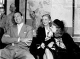 Picture relating to Brisbane - titled 'American film stars at a press conference in Brisbane, 1943'