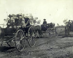 Picture relating to Dillalah - titled 'Sir Harry Rawson joins the Governor's hunt in his wagon, accompanied by his driver, Dillalah, August 1907'