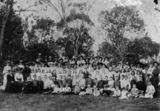Picture relating to Roma - titled 'Large social gathering at Roma, ca. 1890'