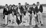 Picture relating to Magnetic Island - titled 'Group of young people socialising on the beach at Magnetic Island, 1932'