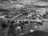 Picture relating to Goomeri - titled 'Aerial view of Goomeri, ca. 1945'