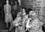 Picture relating to Brisbane - titled 'Women in an air raid shelter in Brisbane, 1942'