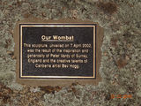 Picture relating to Wombat - titled 'Wombat sculpture plaque'