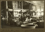 Picture relating to Mount Isa - titled 'Workers in the smelter at Mt. Isa Mines, 1932'