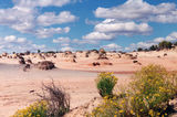 Lake Mungo The varying colours of the sand reflect different periods dating back 120,000 years.