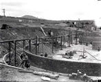 Picture relating to Weston Creek - titled 'Weston Creek sewerage treatment works trickling filter beds, under construction.'