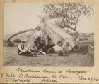 Picture relating to Sandgate - titled 'Group of young men camping at Sandgate over Christmas, 1904'