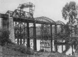 Picture relating to Mary River - titled 'Construction of the second Antigua Bridge, 1916'
