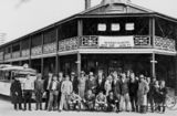 Picture relating to Dubbo - titled 'Dubbo welcomes Queensland - the Queensland Rugby League Team on tour, 1930'