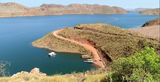 Picture relating to Lake Argyle - titled 'Lake Argyle from Lookout'