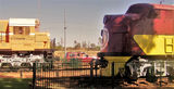 Picture relating to Port Hedland - titled 'Preserved Locomotives Port Hedland'