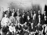 Picture relating to Croydon - titled 'Some of the founders of the Gulf Mining Pastoral and Industrial Association, Croydon, 1906'