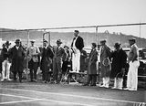 Picture relating to Page - titled 'Dr Earle Page speaking at the opening of the new Canberra Tennis Association Central Courts, Manuka.'