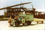 Picture relating to Fraser Island - titled 'Maheno Beach.  Wreck of the Maheno on the Beach at Fraser Island 1979'