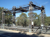 Picture relating to Wilcannia - titled 'Old lift bridge Darling River Wilcannia'