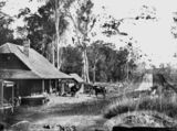 Picture relating to Yatala - titled 'Hanlon's Hotel, Yatala, at the Ferry on the Albert River, ca. 1872'